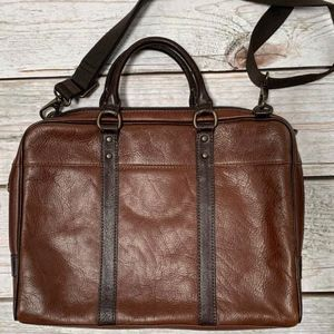 Fossil Leather Briefcase laptop bag - Never used